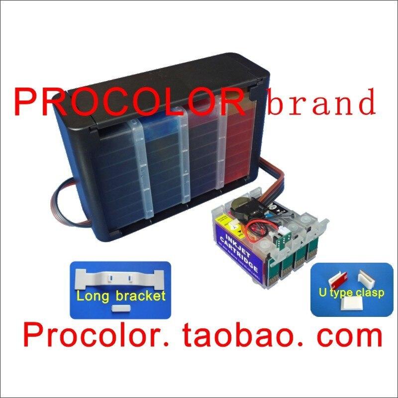 CISS 27 T27  T 252 For Epson WF 7710 7720 7210 7715 7725 7620 7610 3620 3640 7710DWF 7720DTWF Brushing Software Inkjet Printer