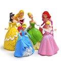 6 Pçs/set Disney Brinquedos Para Crianças Novo 2017 de Fadas Da Princesa Figuras de Ação Mini Bonecas Diy Modelos de Desenhos Animados para Crianças de Aniversário giftsF057