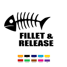 Fillet Release Fish Car Sticker For Truck Window Bumper Auto SUV Door Vinyl Decal все цены