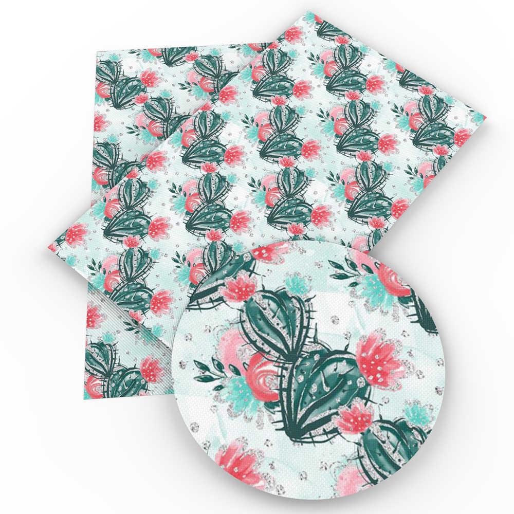 David accessoires 20*34 cm bloem stippen Blad ABC Faux synthetisch leer, DIY Decoratieve knotbow Tas, 1Yc4138