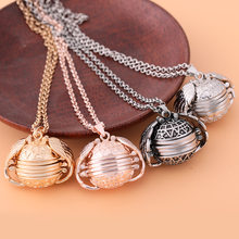 2Pcs Photo Storage Pendant Angel Wings Locket Necklace Fashion Women Romantic Jewelry Ship using Epacket or Worry-Free Standard(China)