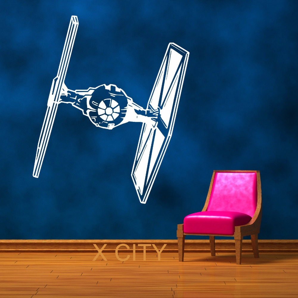 STAR WARS TIE FIGHTER Film Vinyl Väggkonst Room Sticker Dekal - Heminredning