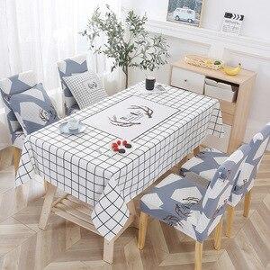 Image 3 - Noel geyik su geçirmez masa örtüsü toptan masa örtüsü düğün ev otel dekorasyon masa sandalye seti