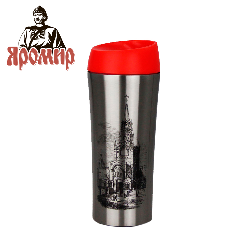 YAROMIR YAR-2405M Hot cup 400ml Vacuum Flask Thermose Travel Sports Climb Thermal Pot Insulated Vacuum Bottle Stainless Steel