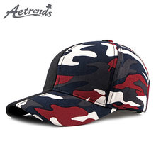 AETRENDS  2018 Patchwork camouflage baseball cap red champion snapback men  sports woman cap outdoor camo hat Z-6532 9117cf7ac625