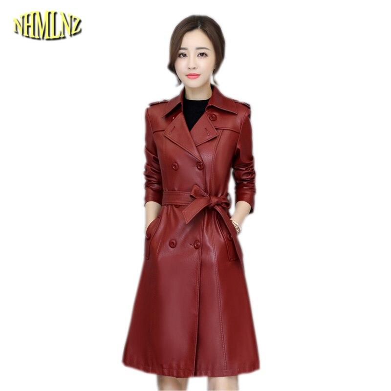 2019   Leather   Winter Warm Jacket Women New Fashion Slim Coat Thick Warm   Leather   Jacket Casual Large Size Office Female Coat OK635