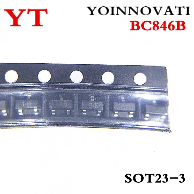 Бесплатная доставка 100 шт/партия BC846B 1B BC846 IC SOT-23 лучшее качество.