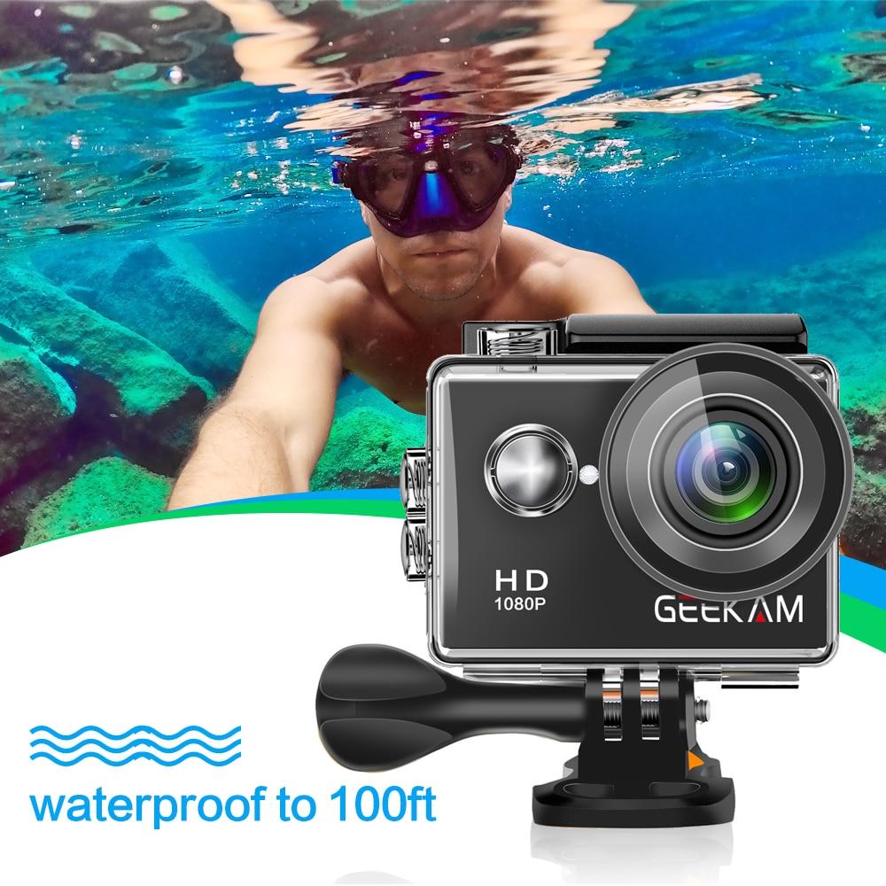 "Image 4 - GEEKAM W9 Action Camera Ultra HD 1080P 12MP WiFi 2.0"" Underwater Waterproof Helmet Video Recording Cameras Sport Cam-in Sports & Action Video Camera from Consumer Electronics"