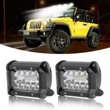 VODOOL 4 inch 60W 3-Row 10800LM LED Work Light Bar Bulbs Offroad Driving Flood Spotlight Lamp For ATV UTV JEEP Motorcycle Truck