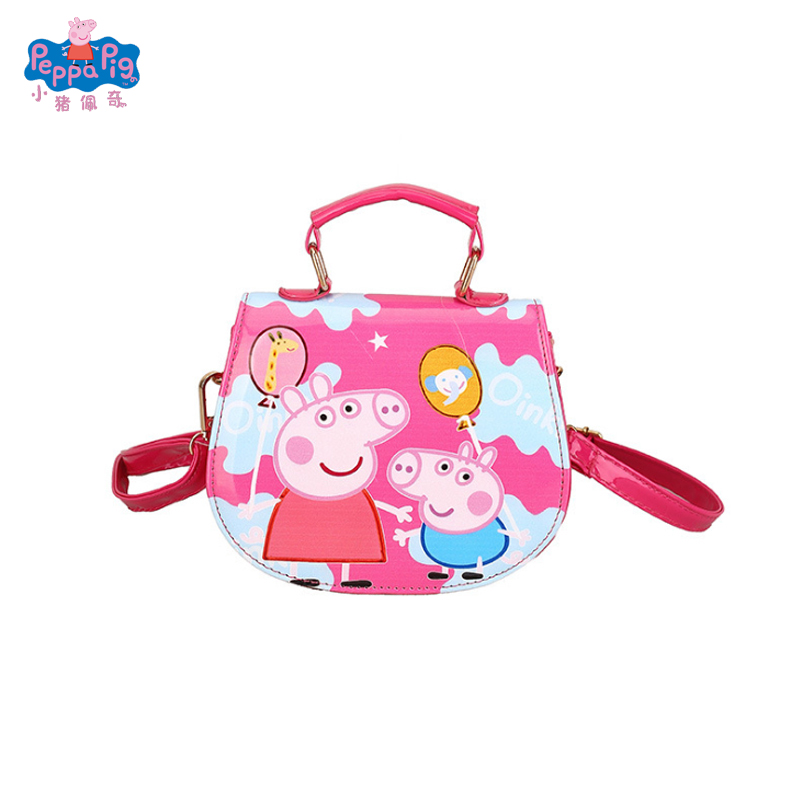 Peppa Pig George Coin Purse Patent <font><b>leather</b></font> bag Toys Doll Kids Girls Bag <font><b>Backpack</b></font> Wallet Phone Bag Children Toys Free Delivery image