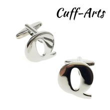 Cufflinks for Men 26 Letters DIY Cufflinks A-Z Alphabet Cuff links Personality Letters For Initials by Cuffarts C10087B fashion silver plated 26 english letters metal cufflinks h cuff links