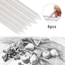 6 шт. эскизная ручка для смешивания пятен пень палка тортильон эскиз искусство Рисование ручка эскиз бумага песок бумага карандаш точилка инструмент для рисования