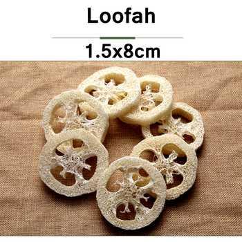 500pcs/lot 8CM large size Natural Loofah Luffa sponge DIY customize cleanner soap tools dish,,sponge scrubber,facial - SALE ITEM All Category