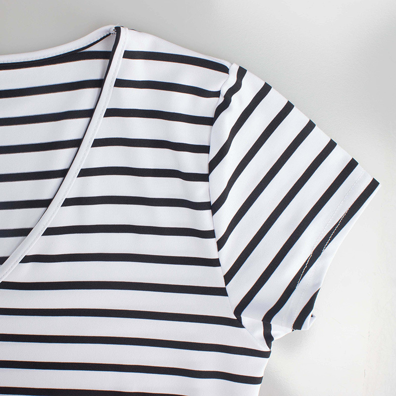 New Summer Top Tee Striped Dress- Fashion Trendy Shop