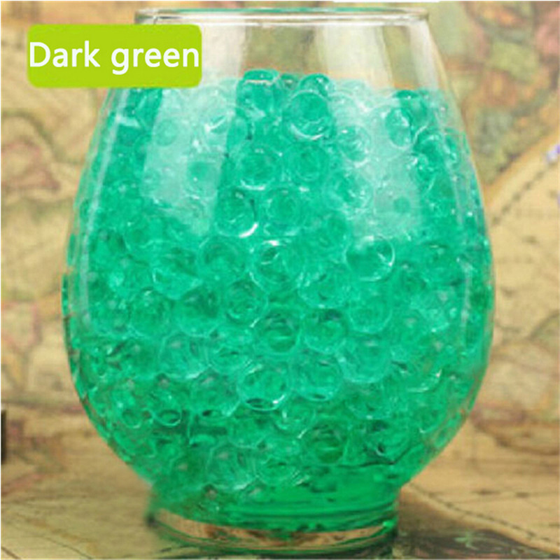 Hot 1000pcs water plant flower jelly crystal soil mud for Decoration fenetre gel