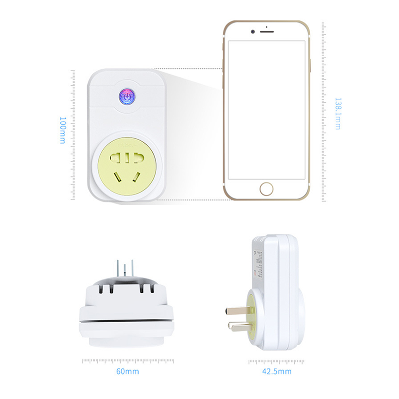 New Smart Socket Remote Control Electrical anywhere anytime Support Alexa Google Home via Volume Control Certificate CE ROHS FCC