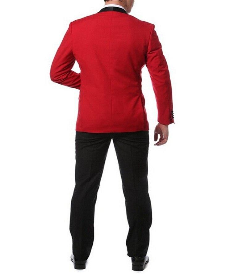 La Roja Negro De Pajarita Del Pantalones Pañuelo Novio Chaqueta Y znnxWOf