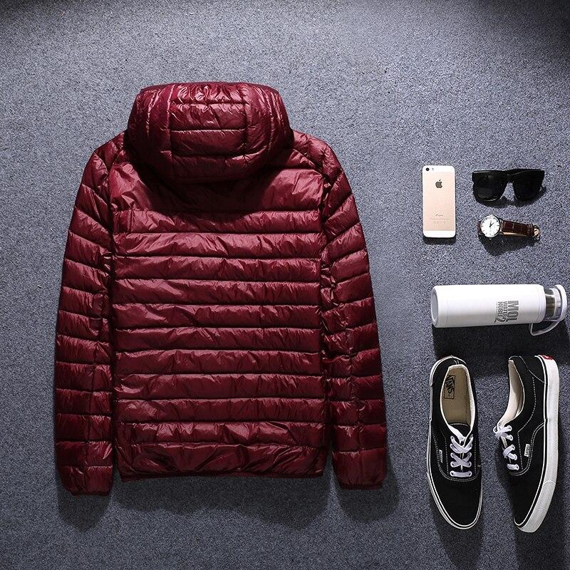Zima płaszcz puchowy męskie plus rozmiar w dół kurtki 2017 mężczyźni odzież wierzchnia bardzo duży czarny czerwony niebieski M L XL 2XL 3XL 4XL 5XL 6XL 50 kg 145 kg w Kurtki puchowe od Odzież męska na  Grupa 3