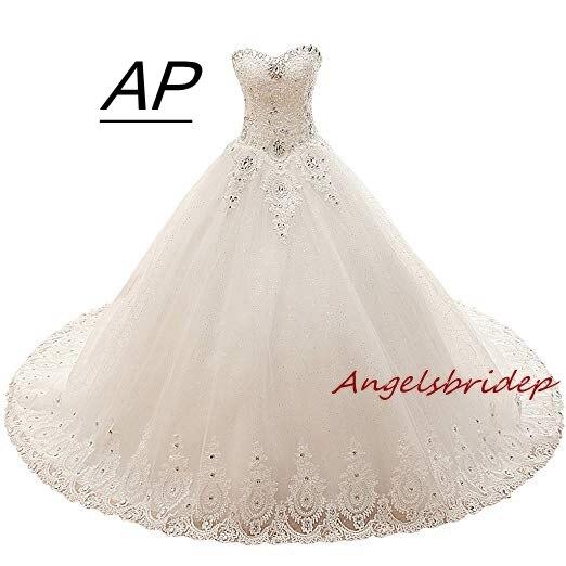 Angelsbridep Romantic Boho Fares Ball Gowns Wedding Dresses 2019 Arabic Sexy Off Shoulder Applique Royal Train