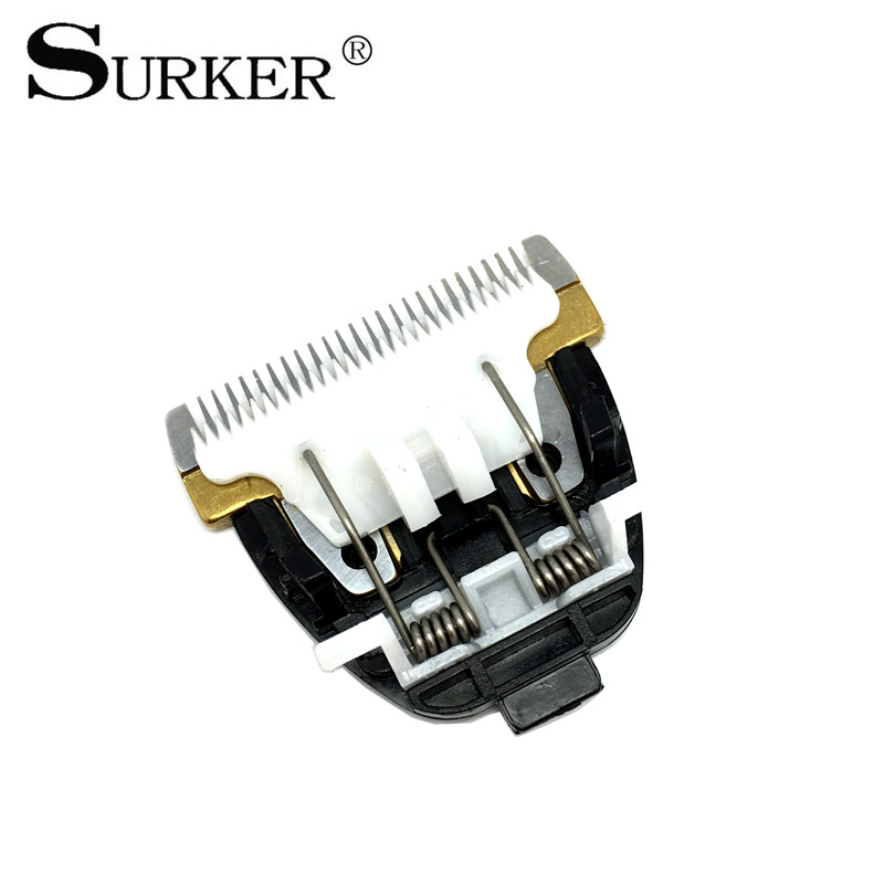 SURKER RFC-688B Hair Clipper Blade Plated Titanium Ceramic Head Hair Styling Accessories myers briggs type indicator