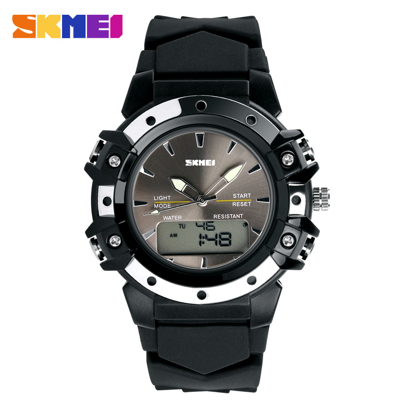 Skmei Dual Time Casual Digital Women/men Dress Sports Jelly Military Watches Christmas Gift 3AT Waterproof Silicon Wristwatches