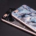 Hot! caso para iphone 6 6 s imagem de pedra de mármore de mármore pintado tampa para a apple iphone6s plus 5 mármore 5S se silicone tpu macio caso