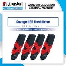 Kingston HyperX Savage USB 3.1 Flash Drive 512GB Flash Disk HXS3 Pendrive 64GB 128GB 256GB 350MB/s Read Speed High Pen drives