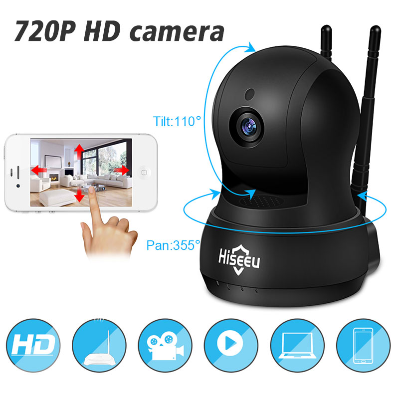 Hiseeu 960P IP Camera Wi-Fi Wireless Network camera wifi HD TF Card Record Home Security CCTV Camera baby monitor pan/Tilt цена
