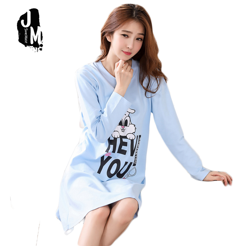 New Women Nightgowns Winter Autumn Long Sleeve Female 100% Cotton Sleepwear Sleepshirt Spring Nightdress Sleepwear Pijamas XXXL
