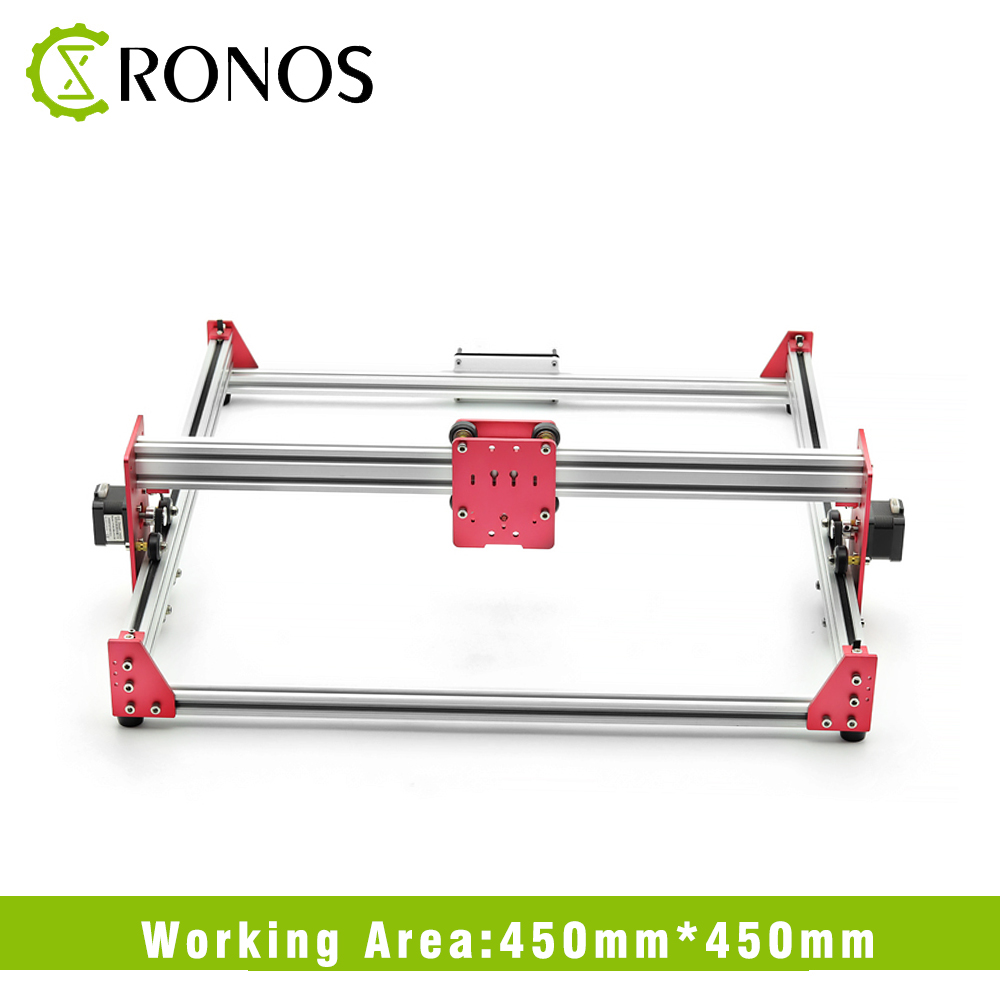 All Metal 45 45cm 500mW 2500mW DIY Laser Engraver Machine 45 45 Engraving Machine 2Axis Wood