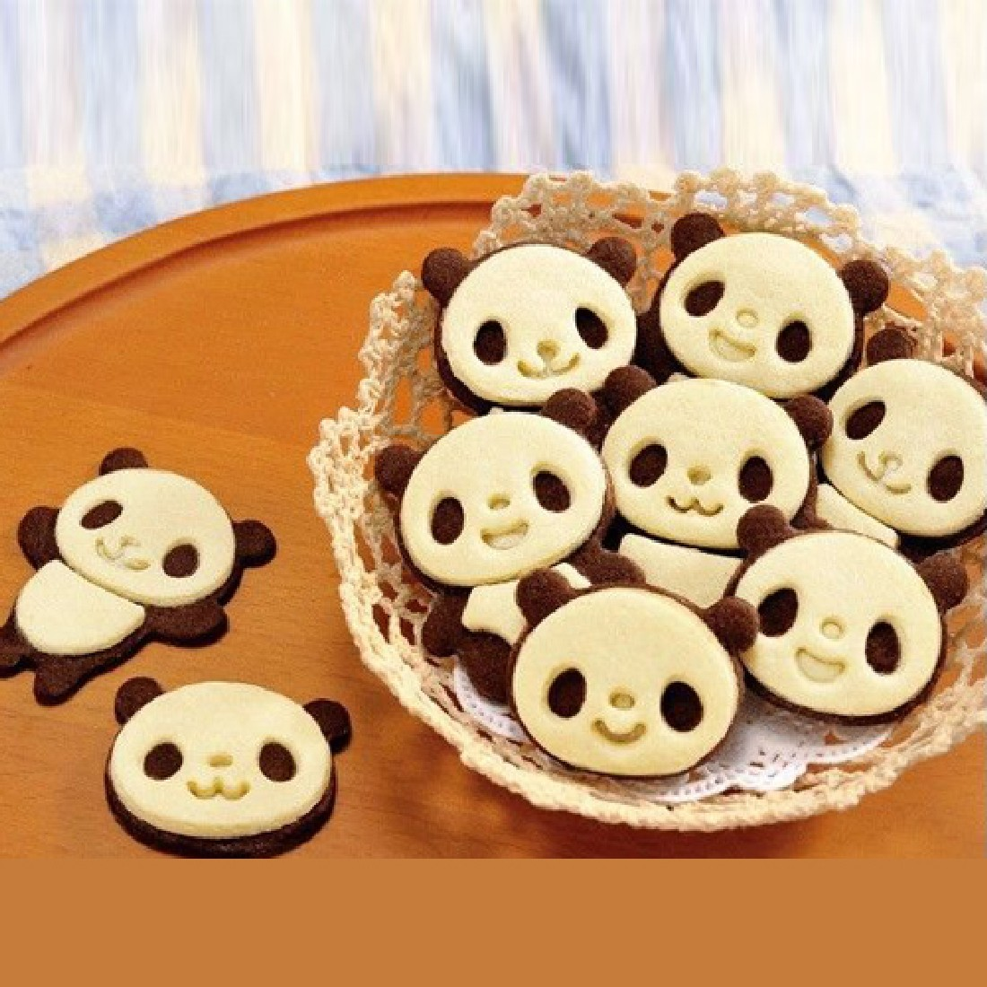4 Unids/set Panda de la Historieta Torta Cortador de Galletas Dulces conjunto mo