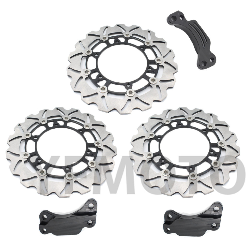 1 Set  Motorcycle Front & Rear Brake Disc Rotor For TMAX500 TMAX 500 2008 2009 2010 2011 2012 2013  Free Shipping 1 pcs motorcycle rear brake rotor disc braking disk for yamaha xp 500 t max 2001 2011 xp500 tmax abs 2008 2011