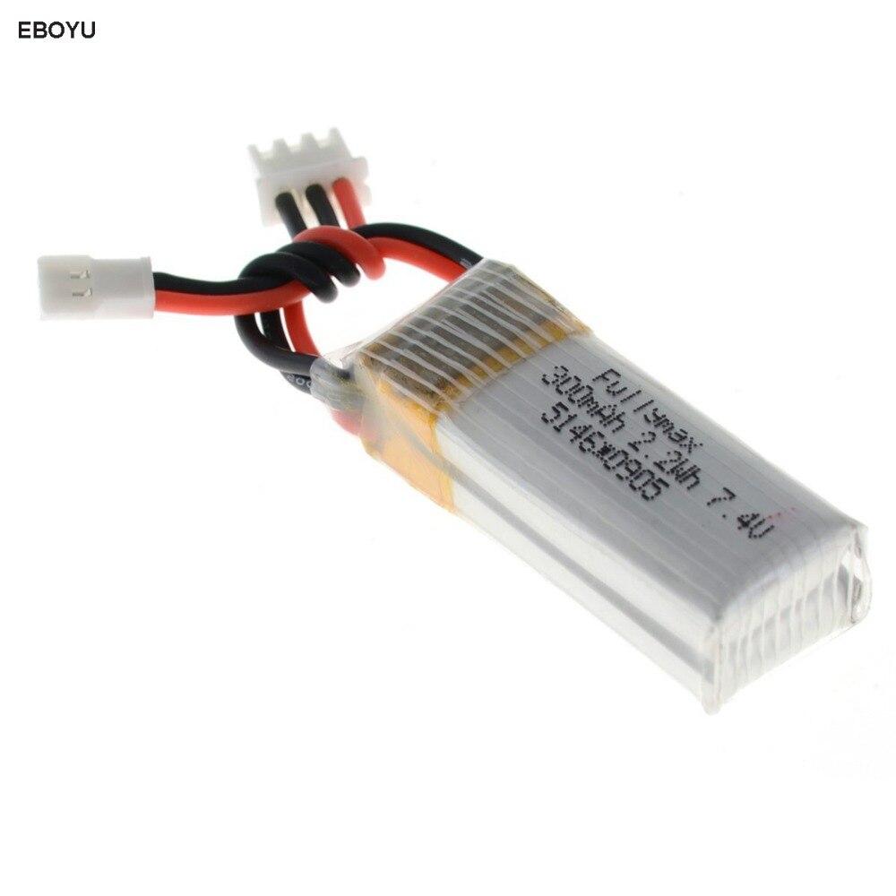 EBOYU 7.4 v 300 mah 25C Lipo Batteria per XK DHC-2 A600 A700 A800 A430 WLToys F959 RC Aereo RTF