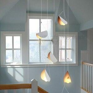 Image 5 - Metal Origami Pendant Lamp Flying Folded Paper Art Iron Suspension Light Cafe Dinning Room Restaurant Hotel Bar Hanging Lighting