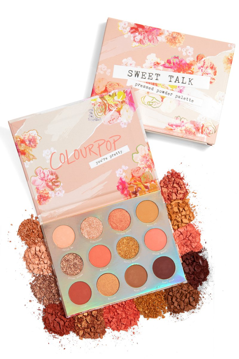 Colourpop 12 Color Glitter Shimmer Eye Shadow Powder Matte Eyeshadow Palette Cosmetic Makeup SWEET TALK