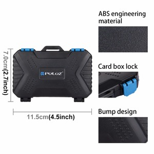 Image 5 - PULUZ 27 in 1 Memory Card Case Holder Waterproof Storage Box Protector for 4CF+ 8SD+9TF+ 1Card PIN +1SIM +2Micro SIM +2Nano SIM