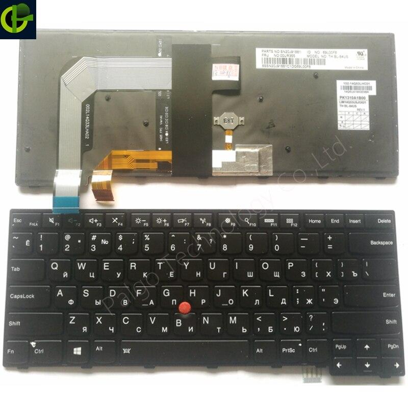 Clavier russe pour LENOVO ThinkPad 13 2nd (20J1-20J2) ThinkPad Nouveau S2 (2nd Gen 20J3) t460S T460P T470S T470P RU AVEC RÉTRO-ÉCLAIRÉ