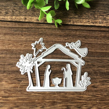 Birth of Jesus Metal Cutting Dies for Scrapbooking DIY Album Embossing Folder Paper Card Maker Template Decor Stencils Crafts(China)