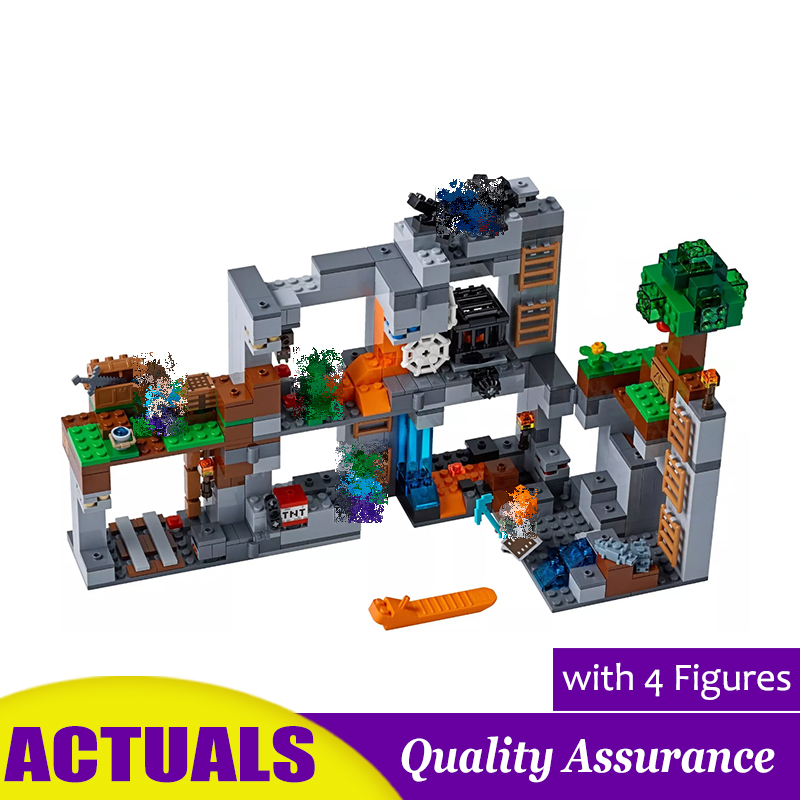 The Bedrock Adventures Compatible 21147 Minecrafted My World Building Blocks Spider Models DIY Brick Toys