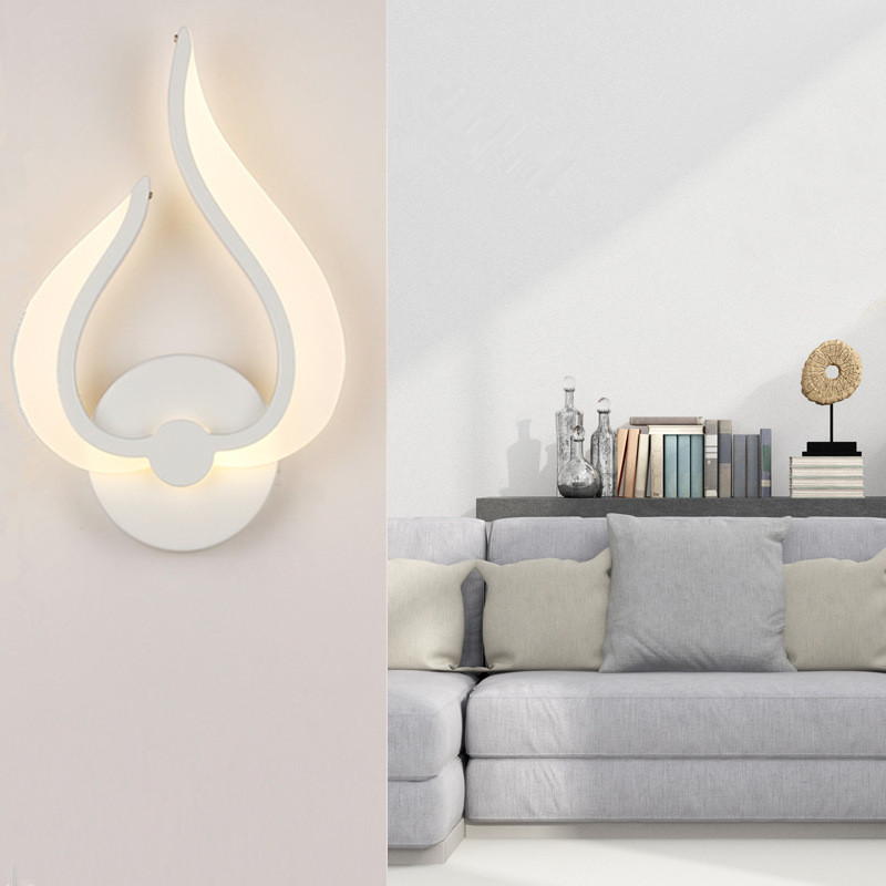 Led Acrylic Wall Lamp AC85 265V Wall Mounted Sconce Lights ... on Wall Mounted Decorative Lights id=47724