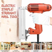 Electric Nailer 10 30mm Straight Nail Staple Guns 220V 1800W Woodworking Tool Light Weight Portable 60/min Firing Speed Rate