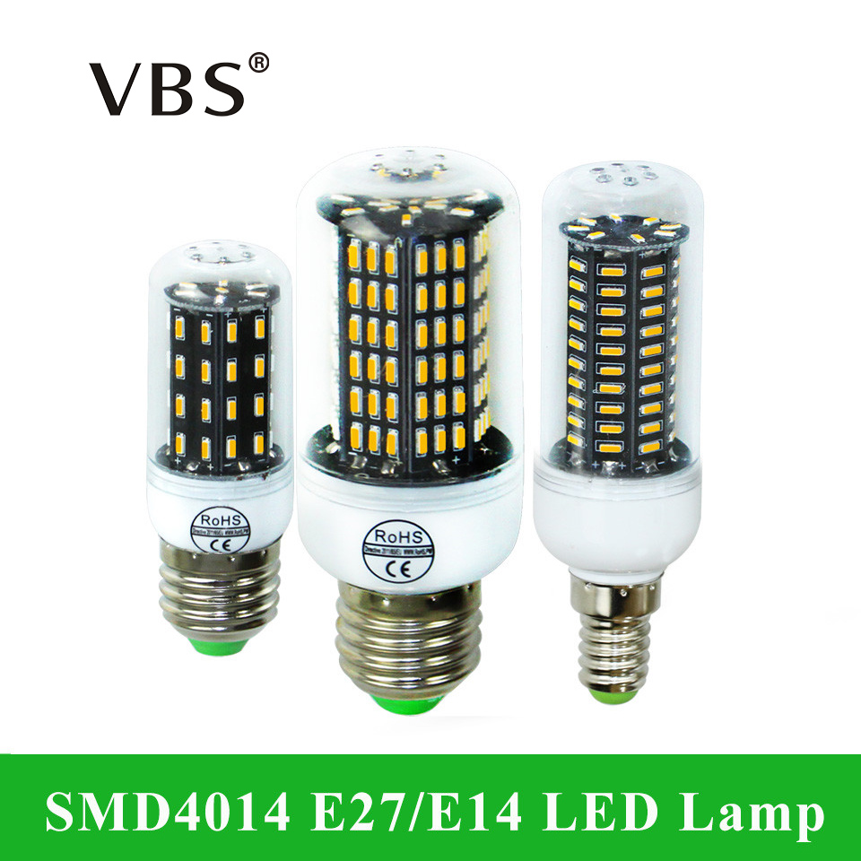 E14 LED E27 LED Corn Lamp 220V 4014SMD LED Corn Bulb Light 38 55 78 88 140Leds Chandelier Candle Bombillas Led Lampada Lighting