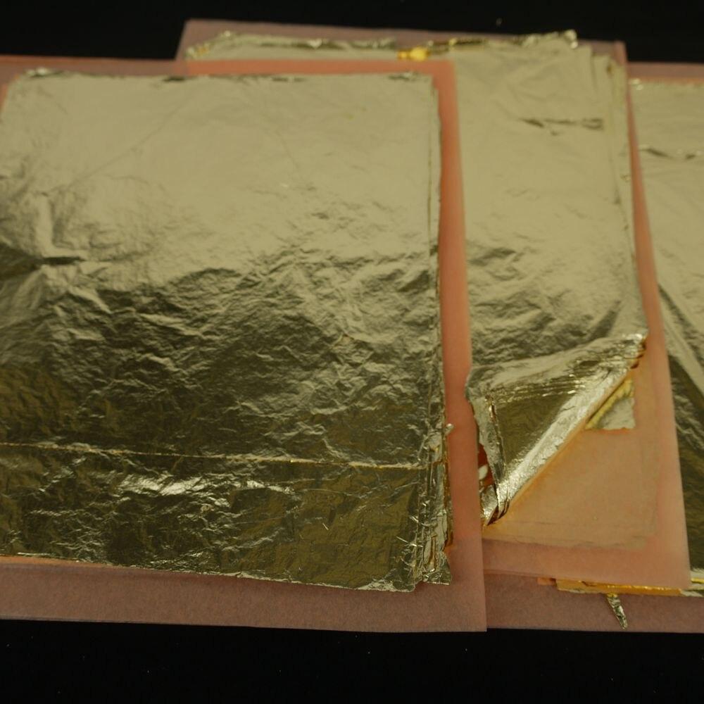 عالية الجودة فضفاض تقليد الذهب ليف تقليد الفضة ورقة النحاس فويل ألومنيوم احباط 16x16 سنتيمتر اللون 2.5 5000 قطعة في مربع-في أوراق حرف يدوية من المنزل والحديقة على  مجموعة 1