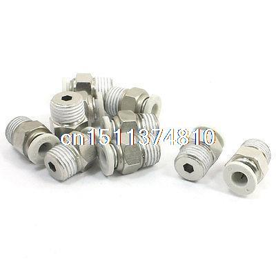 10 Pcs 1/4PT Male Thread to 6mm Hose Air Compressor Quick Fittings Couplers 1 2 thread to hose tail 1 4 air control ball valve zmm
