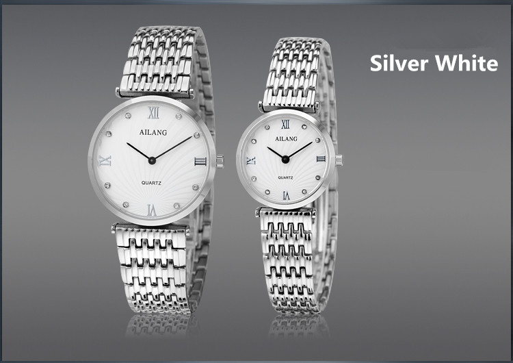 AILANG Popular Ultra-thin Lovers Steel Watches Vintage Roman Business Dress Wristwatch Men Women Dress Watch Quartz 2-hand A110 muhsein hot sellingnew lovers quartz watches stainless steel watch business women dress watches for couples free shipping