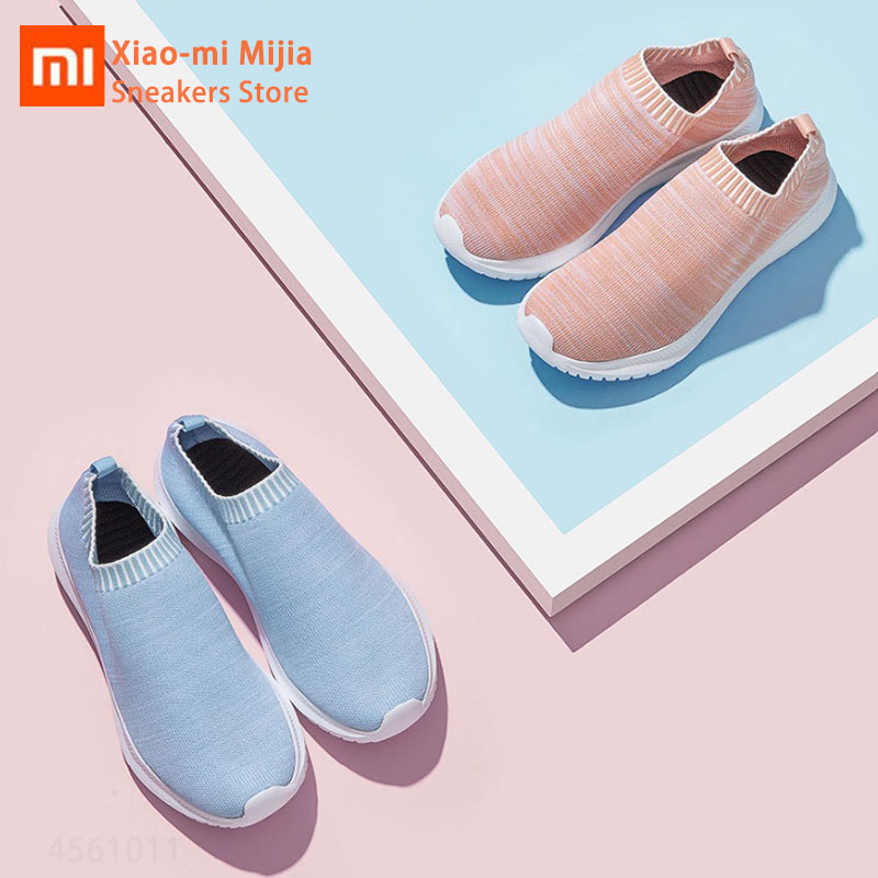 Xiaomi Mijia UREVO Woman Sport Shoes Breathable Integreated Socks Leisure Sneakers Comfortable Breathable Running Walking Shoes