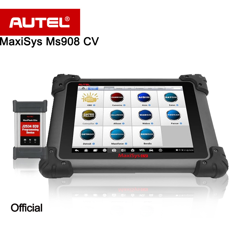 autel maxisys 908 cv diagnostic tool for heavy duty ms908 cv scanner full system ecu coding