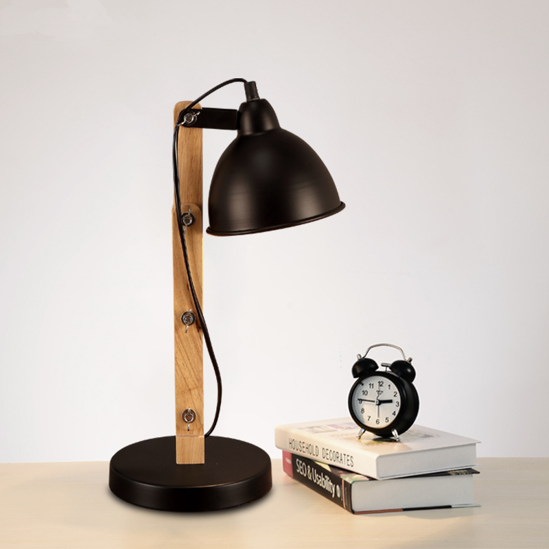 Nordic creative personality simple table lamp bedroom bedside desk lamp Wooden folding designer Art Table Lamps  nordic modern minimalist led living room desk lamp wooden art bedroom bedside creative personality