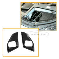 Car Styling Carbon Fiber Full Replacement Bonnet Lock Cover For BMW 5 Series F10 528i 535i 550i 2011 2012 2013 Car Hood Lock