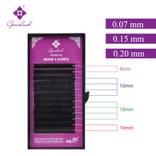 Genie False Mink Eyelash Extensions Mix Tray 8 10 12 14 in One Case C & D Curl 0.07 0.15 0.20mm Thickness Shipped from Germany